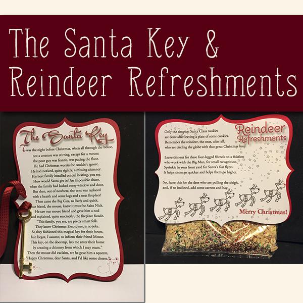 Santa Key and Reindeer Refreshment
