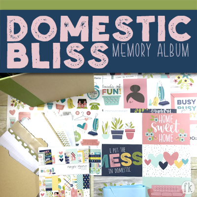 Domestic Bliss 6x8 Memory Album - Featured