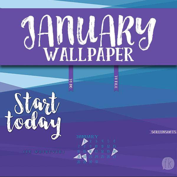 January Wallpaper - Featured